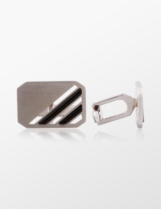 Molu Beyaz Altın Kol Düğmesi BL-1960