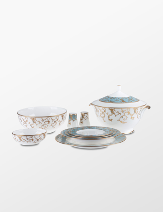 Narumi Bone China Anatolia Blue 83 Parça Yemek Takımı 50939-53283