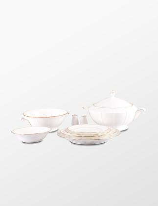 Narumi Bone China Lotus Gold 83 Parça Yemek Takımı 51408-53416