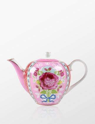 Pip Studio Çiçek Desenli Pembe Demlik 51005001