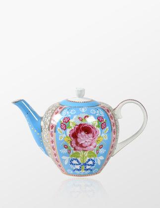 Pip Studio Çiçek Desenli Mavi Demlik 51005002