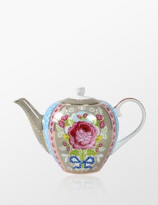 Pip Studio Çiçek Desenli Haki Demlik 51005005