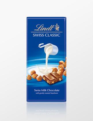 Lindt Swiss Classic Sütlü Fındıklı Çikolata 01010100.002