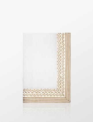 L'objet Fortuny 4'lü Beyaz Gold Kumaş Peçete LOBLPFL10
