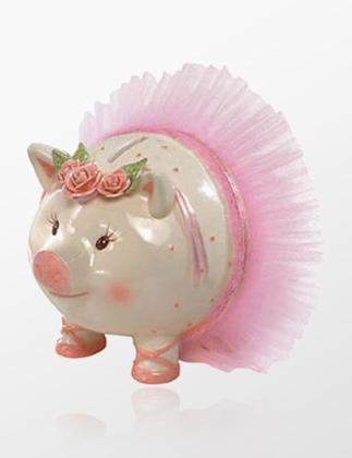 Mud Pie Ballerina Piggy Kumbara INMUD17024