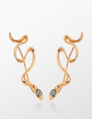 Ps One Jewellery Amorph Snake Yukarıya Doğru Giden Küpe PSONE05WN01