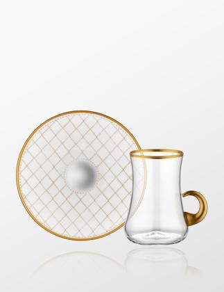 Koleksiyon Dervish Kulplu 6'lı Çay Seti Kapıtone 31000040514