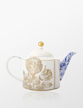 Pip Studio Royal Beyaz Demlik Altın Çiçek Desenli 51005021