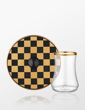 Koleksiyon Dervish Dama Siyah Altın Çay Seti 6'lı 31000042066