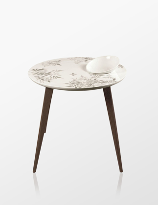 Lladró Shadow Moment Table With Bowl Wenge 01040231