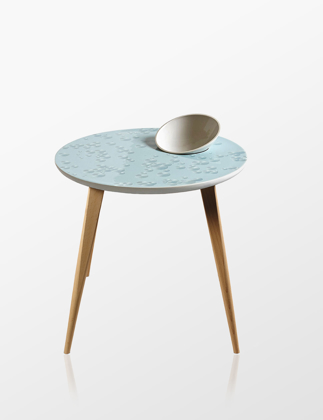 Lladró Crystal Moment Table With Bowl Oak 01040217