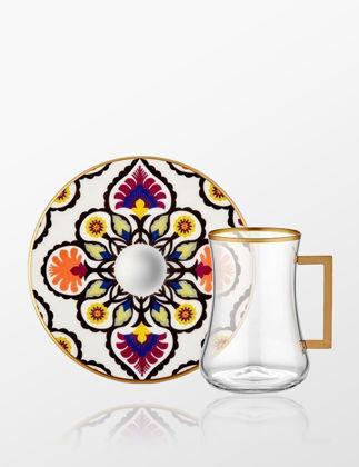 Koleksiyon Dervish Kulplu 6'lı Çay Seti Flora 31000040806