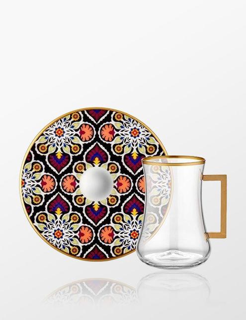 Koleksiyon Dervish Kulplu 6'lı Çay Seti Terra 31000040805