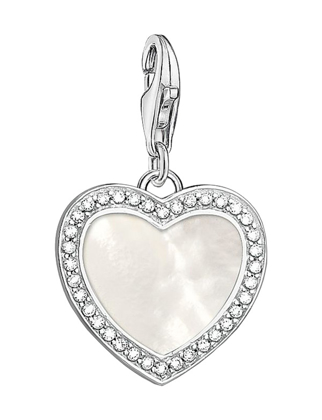 Thomas Sabo Heart with Mother of Pearl Charm 1472-030-14