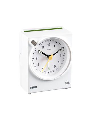 Braun Alarmli Masa Saat Ses Kontrol Beyaz BNC004WHWH