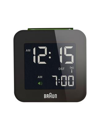 Braun Alarmlı Dijital Masa Saati Siyah BNC008BK