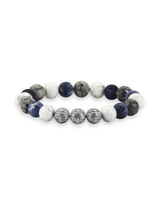 Atolyestone Premium Apex Doğal Taş Bileklik - Multi Stone 11140-SI-MS