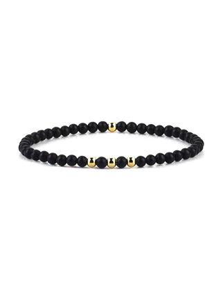 Atolyestone Minimalist Beaded Bracelet 11146-YG-AG