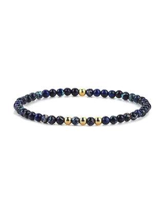Atolyestone Minimalist Beaded Bracelet 11146-YG-IJ