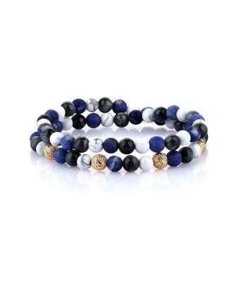 Atolyestone Chelsea Double Beaded Bracelet 11149-YG