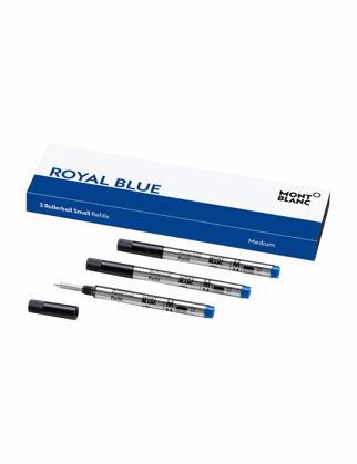 Montblanc 3 Rollerball Small Refills (M) Royal Blue 124505