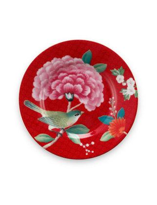 Pip Studio Blushing Birds Kırmızı Petit Four Tabağı 12 cm 51001215