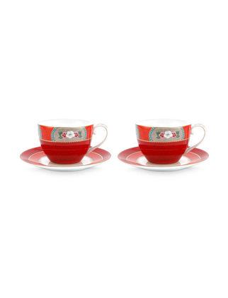 Pip Studio Blushing Birds İkili Kırmızı Çay Fincanı Seti 280 ml 51004095