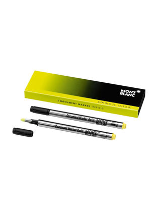 Montblanc 2 Document Marker Refills Luminous Yellow 105168