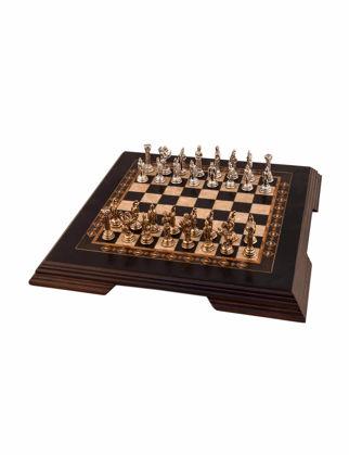 Helena Wood Art Flat Siyah Ayaklı Mini Satranç Seti 2653.BLK.5102.150