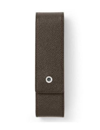 Graf Von Faber-Castell İkili Deri Kalem Kılıfı Koyu Kahverengi 118866