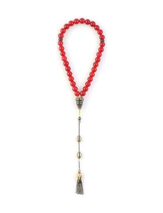 Kiswah Jewellery Kırmızı Kalsedon Tasbih 8 mm OR-032-039-002