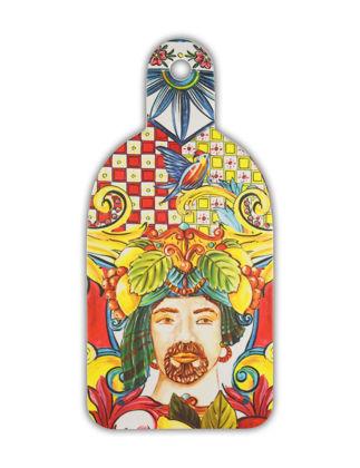 Baci Milano Turuncu Barok Kesme Tahtası - Orta 16,5 x 34,5 cm BMCUT2.BRM03