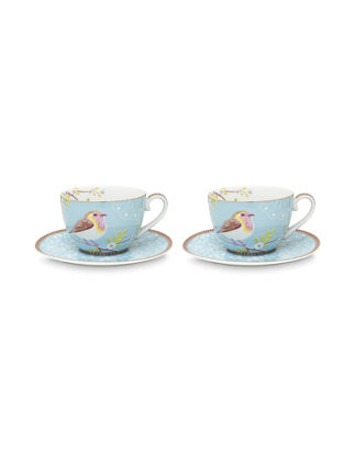 Pip Studio Mavi Kuslu İkili Çay Fincanı 51004103