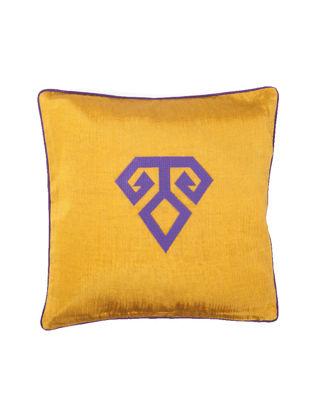 Bohemtolia Bereket Motifi Nakışlı Kutnu Yastık Sarı BT-BER-Sarı
