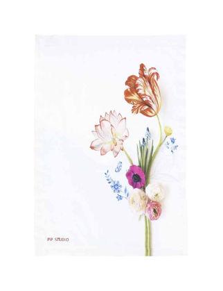 Pip Studio Çay/Servis Havlusu Çiçek Desenli Beyaz 51031034