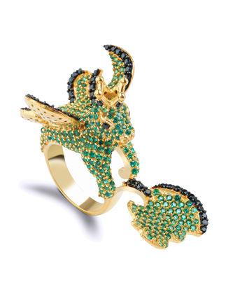 Canan Yolaç Stamboul Secret Of The Universe Emerald Crystal Büyük Şık Yüzük CYQOU2026