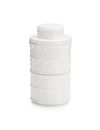 Lamart Citta İki Katlı Porselen Saklama Kabı  21 cm 36520