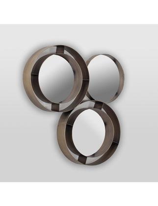 Estetik Decor Ayna Goggel Metal Antik Pirinç Füme MDA-000185A