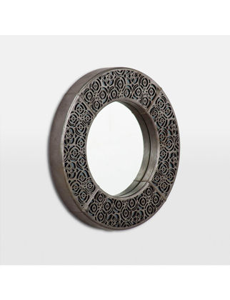 Estetik Decor Deri Ayna Tenor Mini Chamber MDA-000153