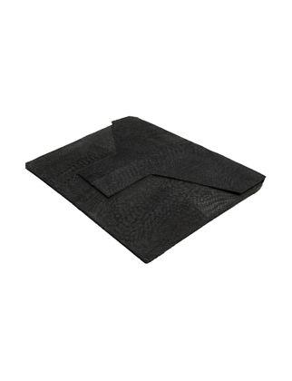 Estetik Decor Deri Çanta Nubuk Deri Siyah Jakobo Raptile Desenli CAN-000144