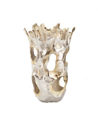 Estetik Decor Dekoratif Vazo Aluminyum Delikli IND19019