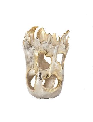 Estetik Decor Dekoratif Vazo Aluminyum Delikli IND19020