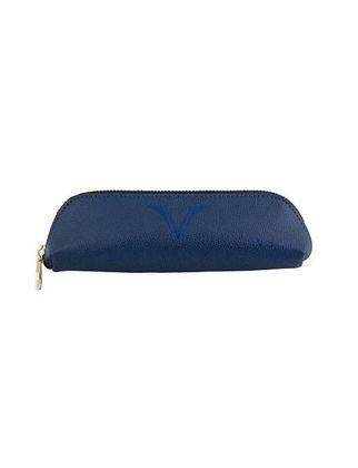 Visconti Deri Küçük Kalem Kutu Mavi KL01-02