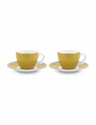 Pip Studio Blushing Birds İkili Sarı Kahve Fincanı Seti 120 ml 51004105