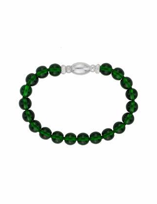 Valael Yeşil Gümüş Kilitli Bileklik Valael-mm681-M