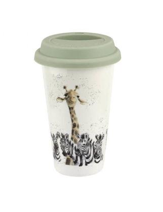 Portmeirion Zürafa ve Zebra Desenli Seyahat Kupası RW.WNRU.78753-XW