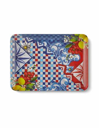 Chiara Alessi Capri Kırmızı Mavi Servis Tabağı 17,5x24 cm CA372LR