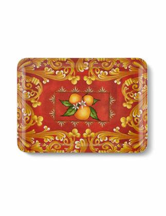 Chiara Alessi Capri Kırmızı Portakallı Servis Tabağı 17,5x24 cm CA372RD