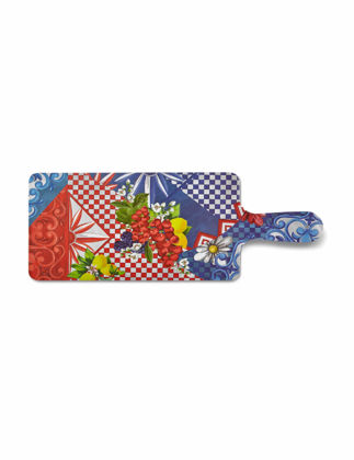 Chiara Alessi Capri Kırmızı Mavi Sunum Tahtası 17,5x32,5 cm CA796LR