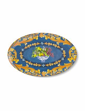 Chiara Alessi Capri Mavi Oval Servis Tabağı 34x21,5 cm CA604BL